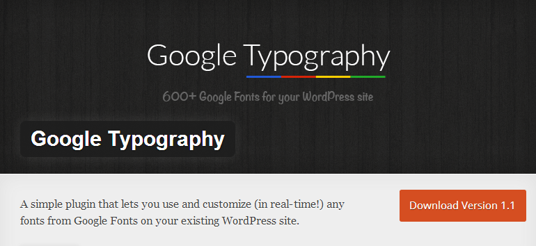 Best Typography WordPress Plugin Ever